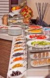 Het ontbijt van het hotel Stock Foto's