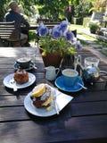 Het Ontbijt van het plattelandshuisjegebakje Royalty-vrije Stock Afbeeldingen