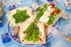 Het ontbijt van Kerstmis voor kind Royalty-vrije Stock Fotografie