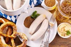 Het ontbijt van Oktoberfest stock afbeeldingen