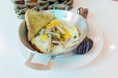 Het ontbijt van Thailand stock afbeeldingen