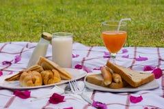Het ontbijt was Heerlijk Royalty-vrije Stock Fotografie