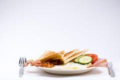 Het ontbijt wordt gediend Royalty-vrije Stock Afbeelding