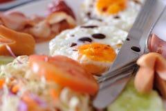 Het Ontbijtvoedsel in de ochtend royalty-vrije stock foto's