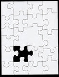 Het ontbrekende stuk Stock Foto's