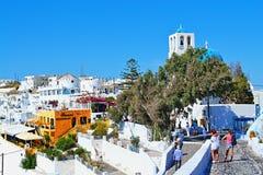 Het ontdekken van Fira Santorini royalty-vrije stock afbeeldingen