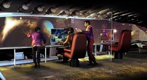 Het ontdekken van verre planeten royalty-vrije illustratie