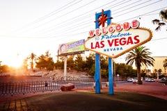 Het onthaal aan het Fabelachtige teken van Las Vegas op Las Vega Stock Afbeeldingen