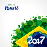het onthaal van 2017 aan de achtergrond van Brazilië stock illustratie