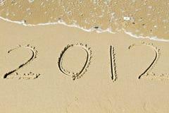 Het onthaal van het nieuwe jaar 2012 Stock Afbeeldingen