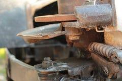 Het ontmantelde Oude Automobiele Schot van de het Systeemfoto van de Wielenlente Stock Foto
