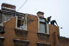 Het ontmantelen van het gebouw Stock Foto