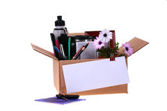 Het ontslag van de doos stock fotografie