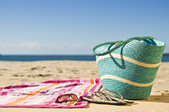 Het ontspannen bij het strand Royalty-vrije Stock Foto's
