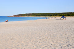 Het ontspannen bij het Strand: Bunkerbaai Royalty-vrije Stock Afbeelding