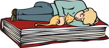 Het ontspannen boek vector illustratie