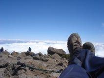 Het ontspannen boven de wolken Royalty-vrije Stock Afbeeldingen