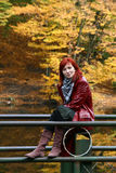 Het ontspannen in de herfst Royalty-vrije Stock Foto's