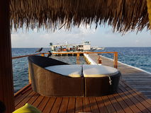 Het ontspannen in de Maldiven Royalty-vrije Stock Foto