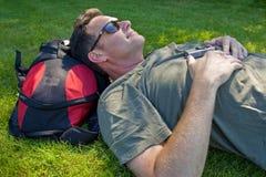 Het ontspannen in de zon Royalty-vrije Stock Foto