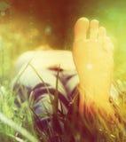 Het ontspannen in de zon Stock Fotografie