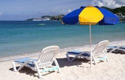 Het ontspannen in de zon Stock Foto's