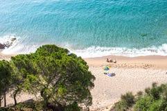 Het ontspannen dichtbij het strand Royalty-vrije Stock Foto's