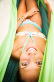 Het ontspannen in Hangmat stock foto's