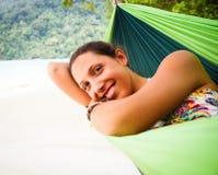 Het ontspannen in Hangmat royalty-vrije stock foto's