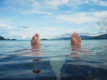 Het ontspannen in het strand Royalty-vrije Stock Foto