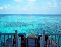 Het ontspannen hier in de Maldiven Stock Foto