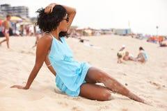 Het ontspannen op het strand royalty-vrije stock fotografie