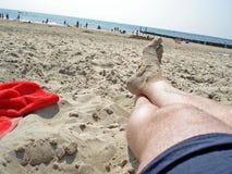 Het ontspannen op strand Royalty-vrije Stock Afbeelding