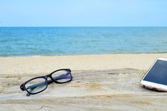 Het ontspannen op strand 4 Royalty-vrije Stock Foto's