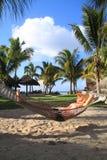 Het ontspannen in paradijs Stock Fotografie