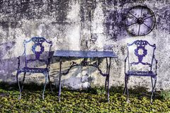 Het ontspannen plaatsing in de tuin Stock Fotografie