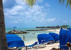 Het ontspannen Prinses Cays stock foto's