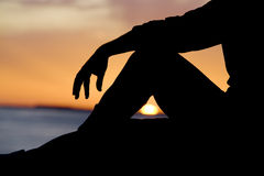 Het ontspannen Silhouet Royalty-vrije Stock Foto