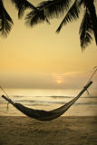 Het ontspannen strand Stock Afbeelding