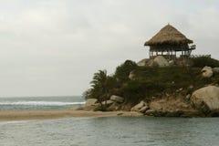 Het ontspannen strand. Royalty-vrije Stock Afbeeldingen