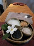 Het ontspannen time†‹with†‹kuuroord massage†‹treatment†‹ stock afbeelding