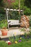 Het ontspannen tuin royalty-vrije stock afbeelding