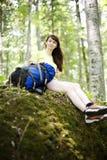 Het ontspannen van de vrouw Stock Foto