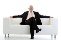 Het ontspannen van de zakenman Stock Foto's