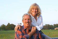 Het Ontspannen van het Paar van het landbouwbedrijf stock foto