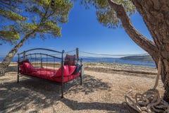 Het ontspannen Vis eiland in Kroatië stock fotografie
