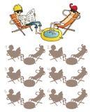 Het ontspannen Visuele Spel van Vriendenschaduwen Royalty-vrije Stock Fotografie