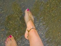 Het ontspannen voeten Royalty-vrije Stock Afbeeldingen
