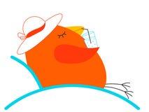 Het ontspannen vogel vector illustratie