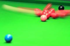 Het ontspruiten de distributie van de Snooker royalty-vrije stock foto's